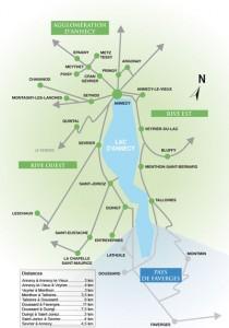 Карты Анси и региона: вокруг озера Анси