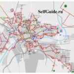 Карта Пизы - автобусы по городу Пиза