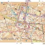 Схема автобусов в историческом центре Болоньи