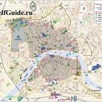 Карта Пизы - зона ограниченного движения в городе
