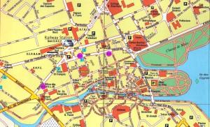 Карты Анси и региона: центр города Анси, достопримечательности Анси на карте, карта Анси с отмеченными достопримечательностями