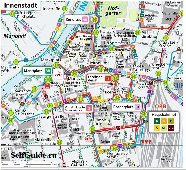 Схема городского транспорта: