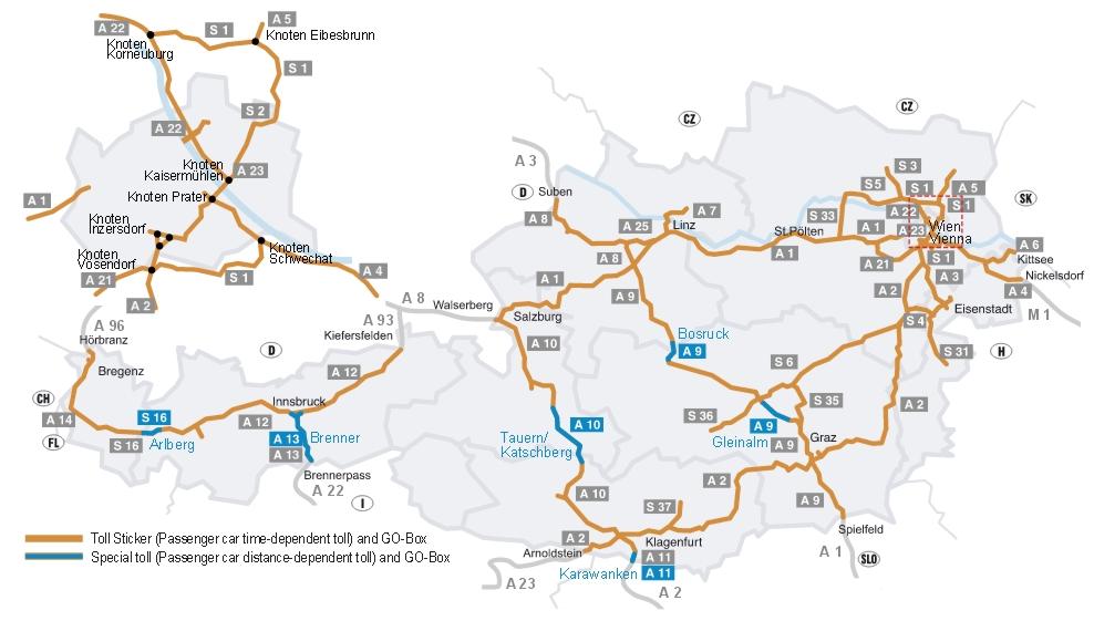 Автобаны в Австрии - На машине в Инсбрук: как проехать в Инсбрук на машине, парковки в Инсбруке. Лучший путеводитель по Инсбруку: маршруты, описания, транспорт, расписание,карты