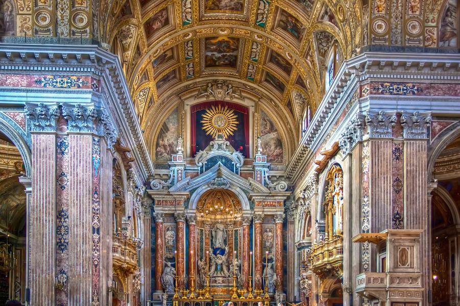 Chiesa del Gesu Nuovo Церковь Джезу Нуово Неаполь Napoli