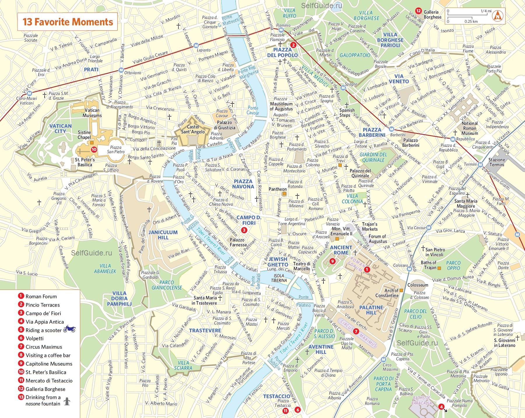 Karta Rima Rajony Rima Na Karte Turisticheskaya Karta Rima