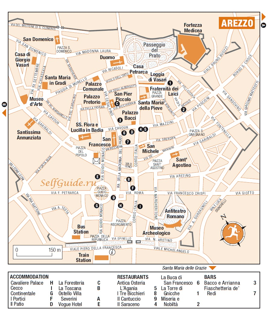 Italy-RG-Florence-Arezzo - карта Ареццо, Италия, Тоскана