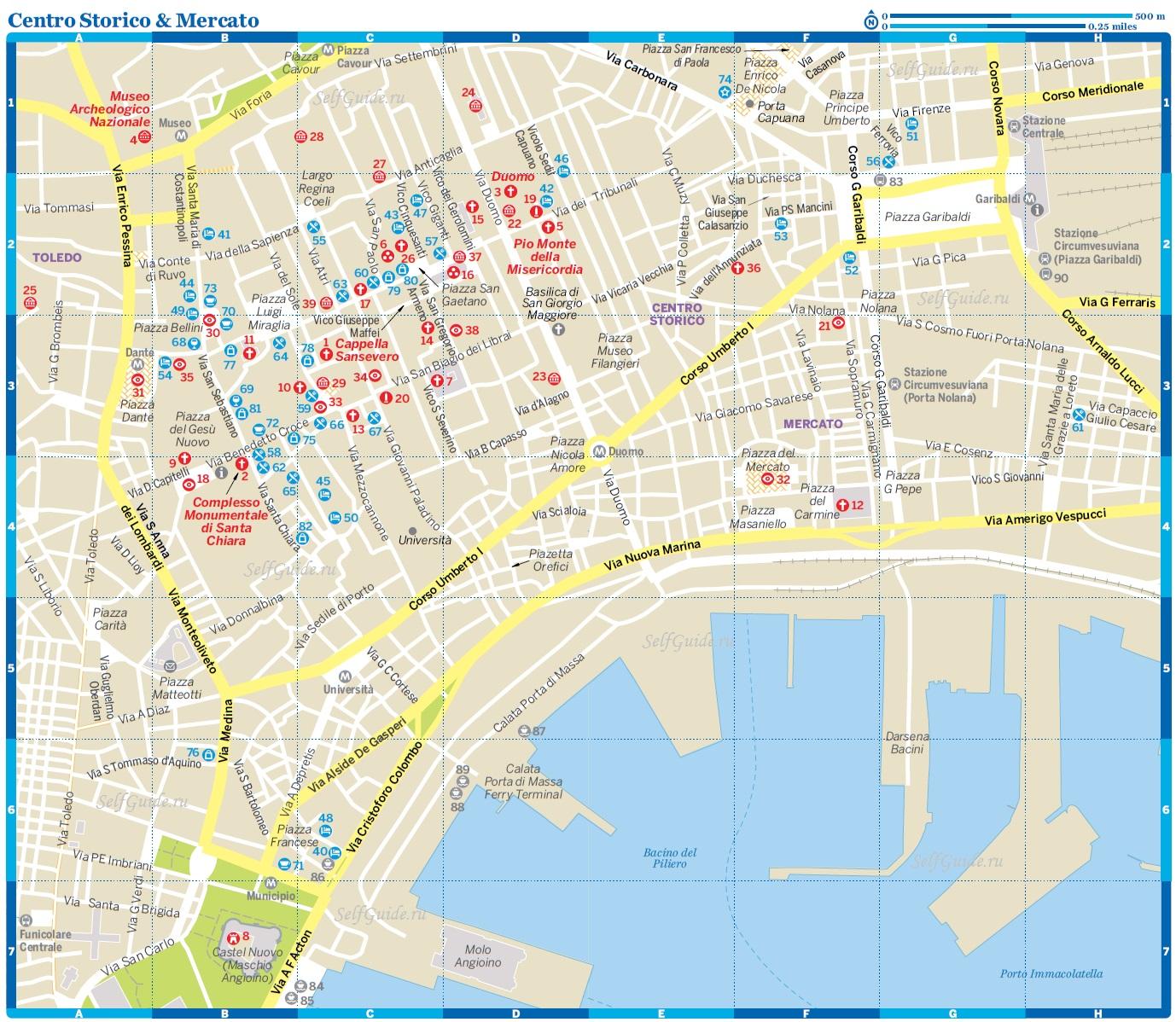 Карта Неаполя