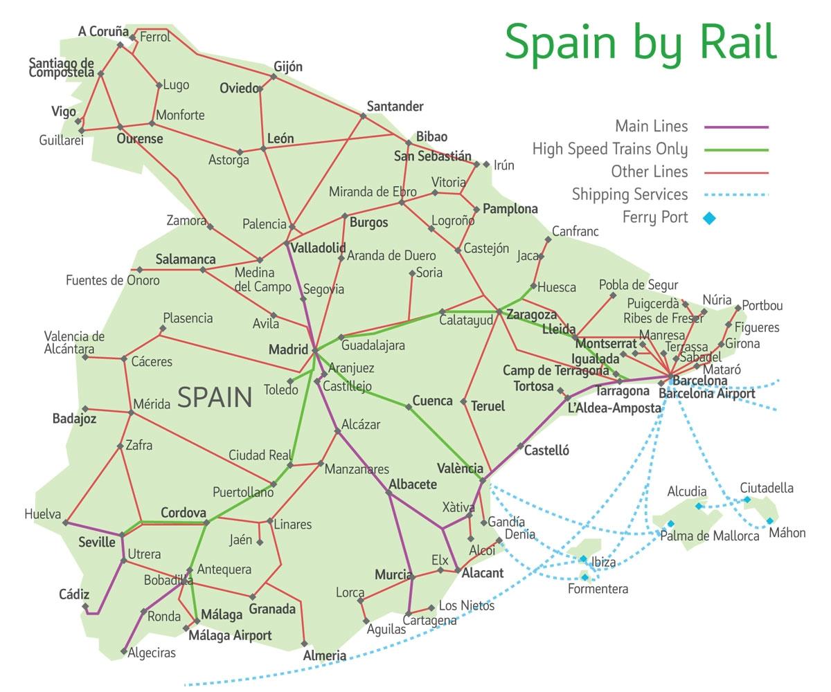 На поезде в Барселону