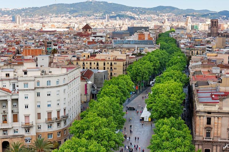 Ла Рамбла или Лас Рамблас (La Rambla) Улица Ла Рамбла, достопримечательности Барселоны, город Барселона, что посмотреть в Барселоне, barcelona-la-rambla-spain