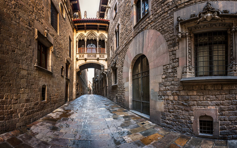 достопримечательности Барселоны - Готический квартал Барселоны barcelona-spain-gothic